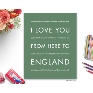 ENGLAND Travel Art | Gift Idea | HopSkipJumpPaper  - Shop Online