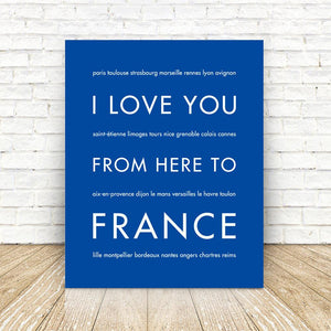 FRANCE Travel Art | Gift Idea | HopSkipJumpPaper