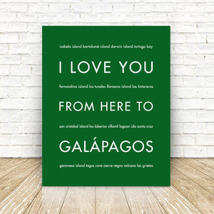 GALAPAGOS Travel Art | Gift Idea | HopSkipJumpPaper