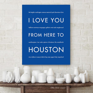 HOUSTON City Wall Art | Gift Idea | HopSkipJumpPaper