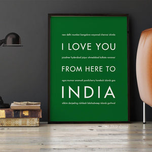 INDIA Travel Art Print | Gift Idea | HopSkipJumpPaper