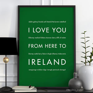 IRELAND Travel Art Print | Gift Idea | HopSkipJumpPaper