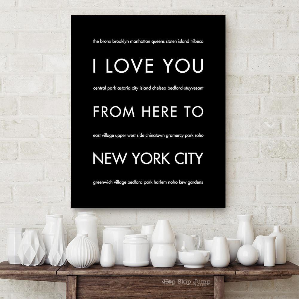 NEW YORK CITY City Wall Art | Gift Idea | HopSkipJumpPaper