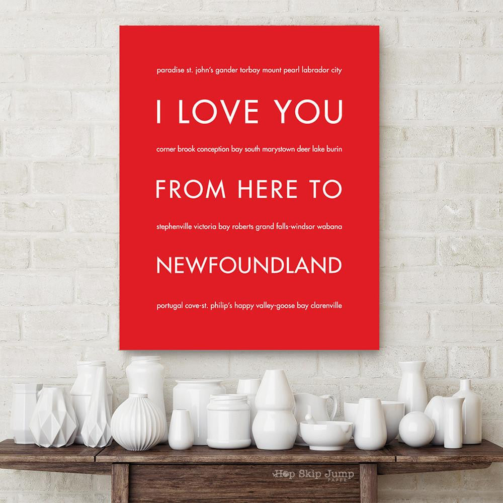 NEWFOUNDLAND art print Travel Art Print | Gift Idea | HopSkipJumpPaper