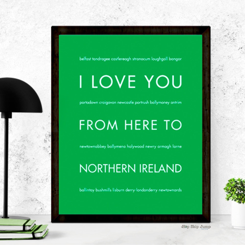 NORTHERN IRELAND art print Travel Art Print | Gift Idea | HopSkipJumpPaper  - Shop Online