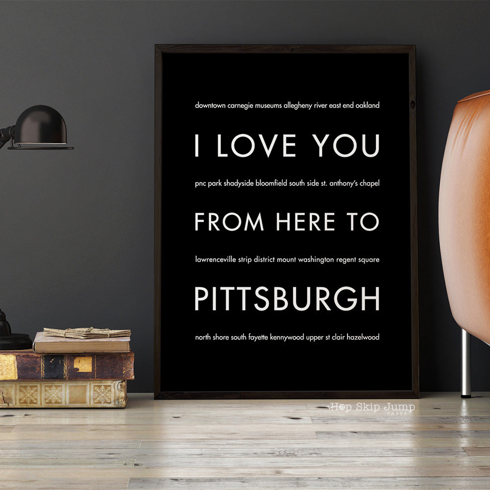PITTSBURGH City Wall Poster | Gift Idea | HopSkipJumpPaper