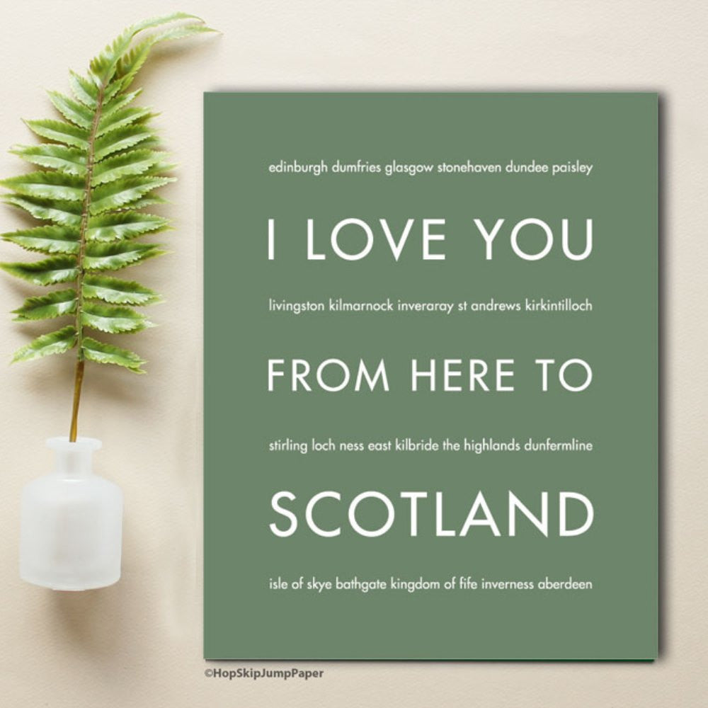 SCOTLAND art print Travel Art Print | Gift Idea | HopSkipJumpPaper  - Shop Online