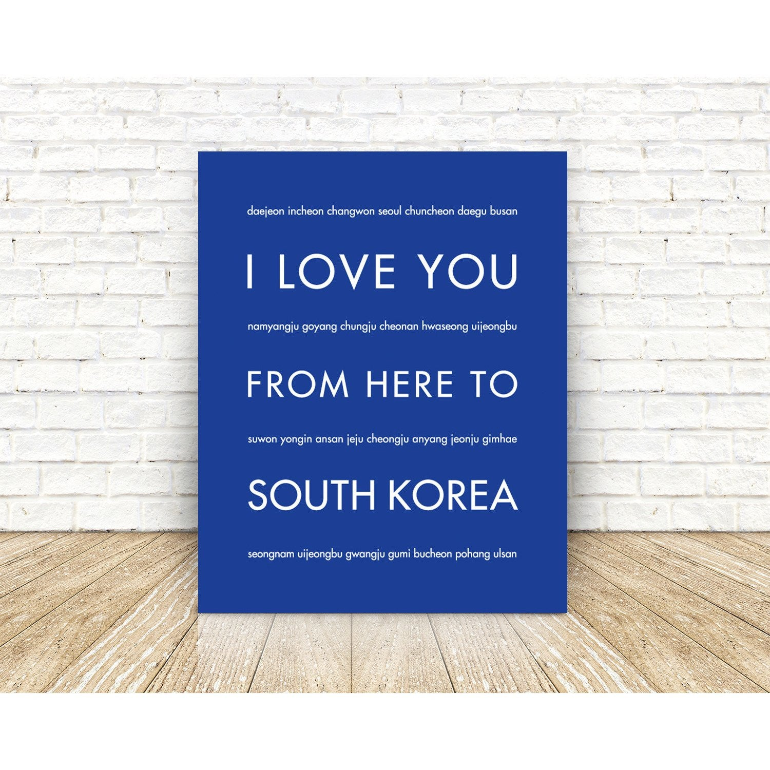 SOUTH KOREA Travel Art Print | Gift Idea | HopSkipJumpPaper  - Shop Online