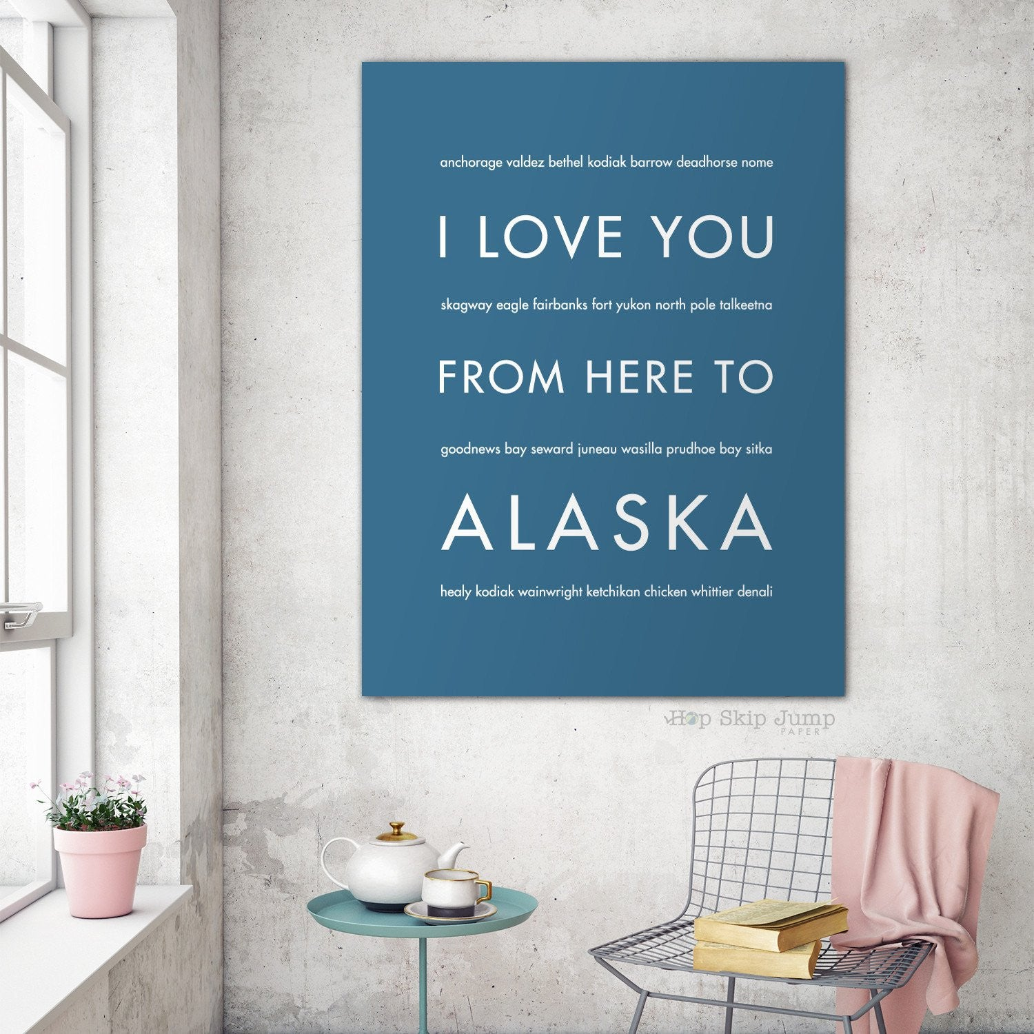 Co color art printing anchorage alaska - Alaska State Wall Art Gift Idea Hopskipjumppaper Shop Online