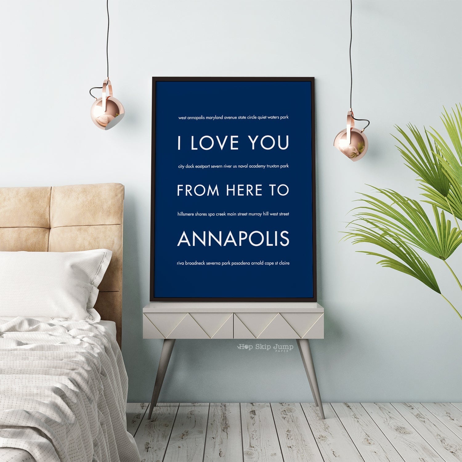 ANNAPOLIS City Wall Art | Gift Idea | HopSkipJumpPaper