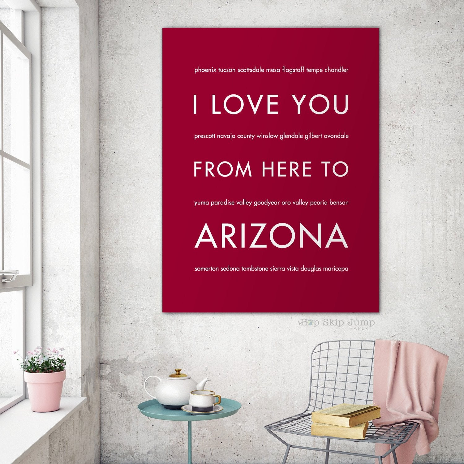 ARIZONA State Wall Art | Gift Idea | HopSkipJumpPaper  - Shop Online