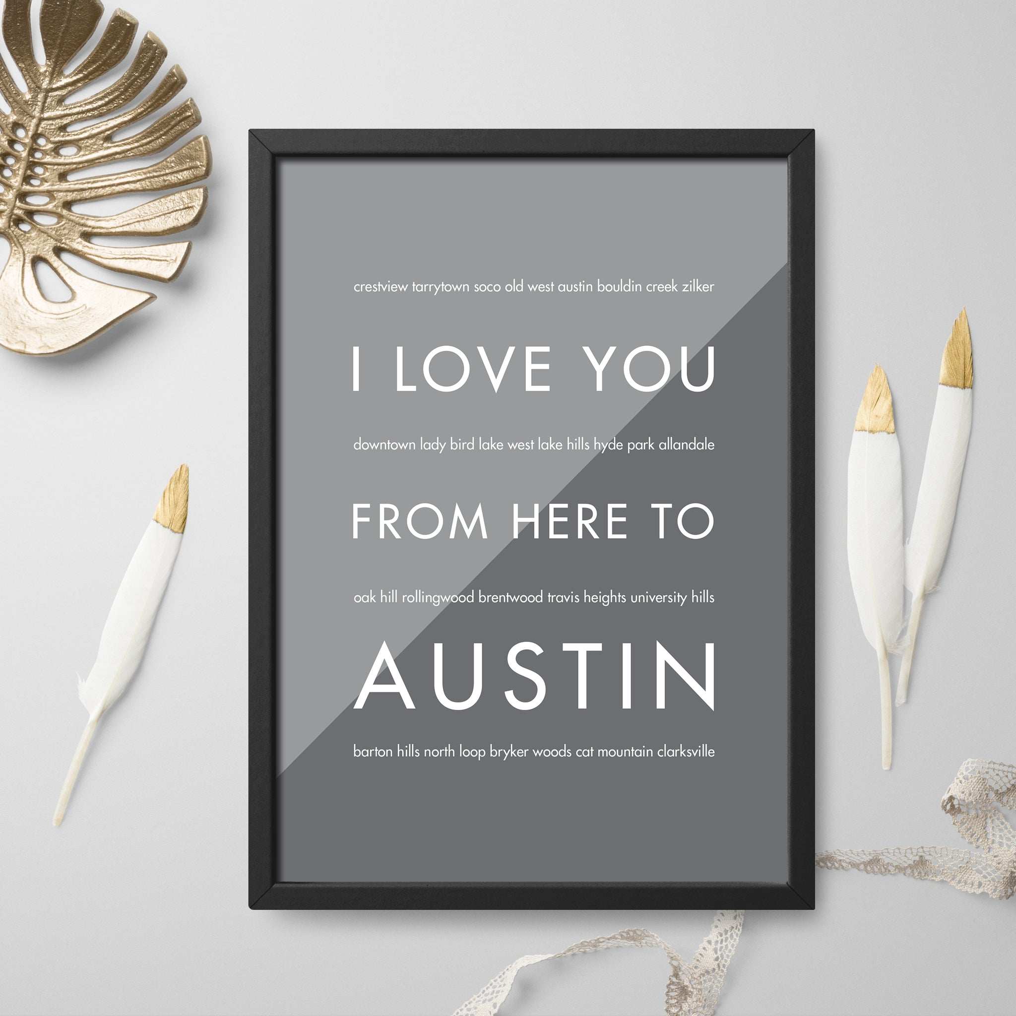 AUSTIN City Wall Art | Gift Idea | HopSkipJumpPaper