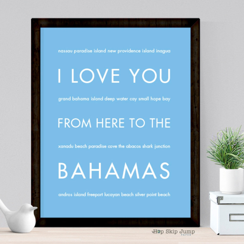 BAHAMAS Travel Art Print | Gift Idea | HopSkipJumpPaper  - Shop Online