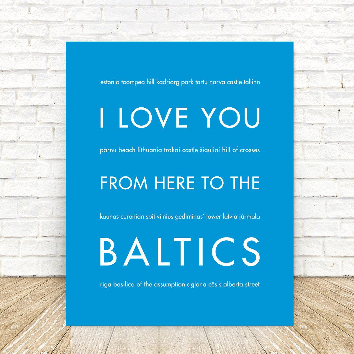 The BALTICS Travel Art Print | Gift Idea | HopSkipJumpPaper