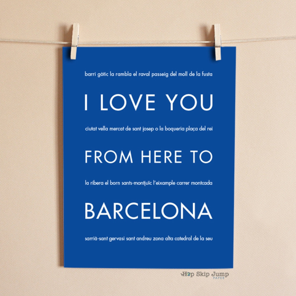 BARCELONA Spain Travel Print | Gift Idea | HopSkipJumpPaper  - Shop Online