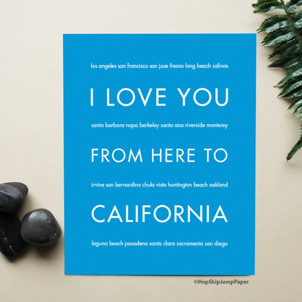 CALIFORNIA State Wall Art | Gift Idea | HopSkipJumpPaper  - Shop Online