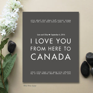 CANADA Custom Wedding Print | Gift Idea | HopSkipJumpPaper  - Shop Online
