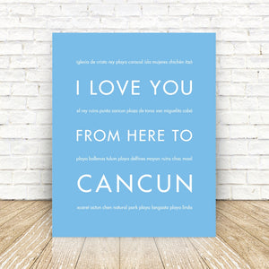 CANCUN Mexico Travel Print | Gift Idea | HopSkipJumpPaper  - Shop Online