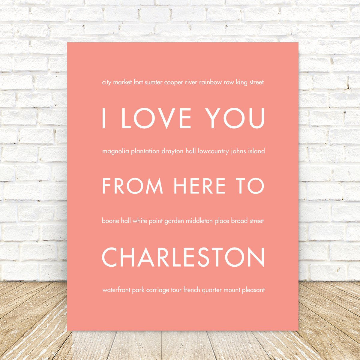CHARLESTON State Wall Poster | Gift Idea | HopSkipJumpPaper
