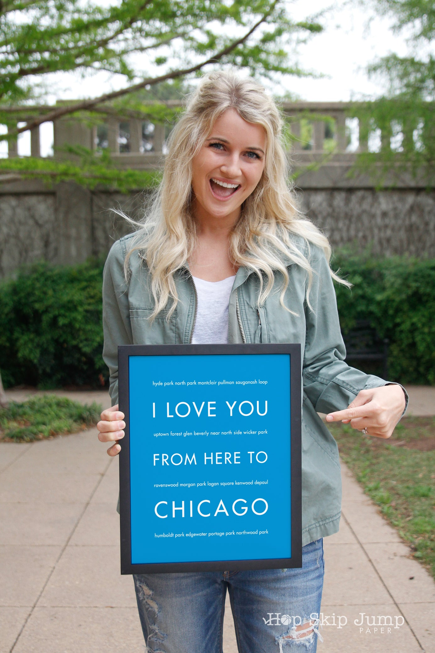 CHICAGO City Wall Art | Gift Idea | HopSkipJumpPaper