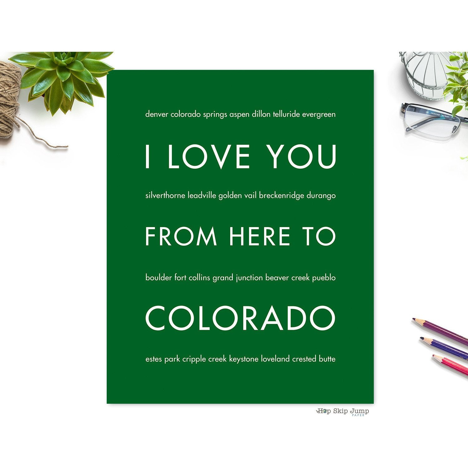 COLORADO State Wall Art | Gift Idea | HopSkipJumpPaper  - Shop Online