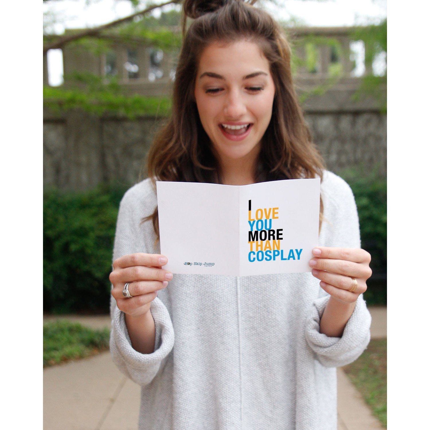 I Love You More Than Cosplay greeting card  - Shop Online