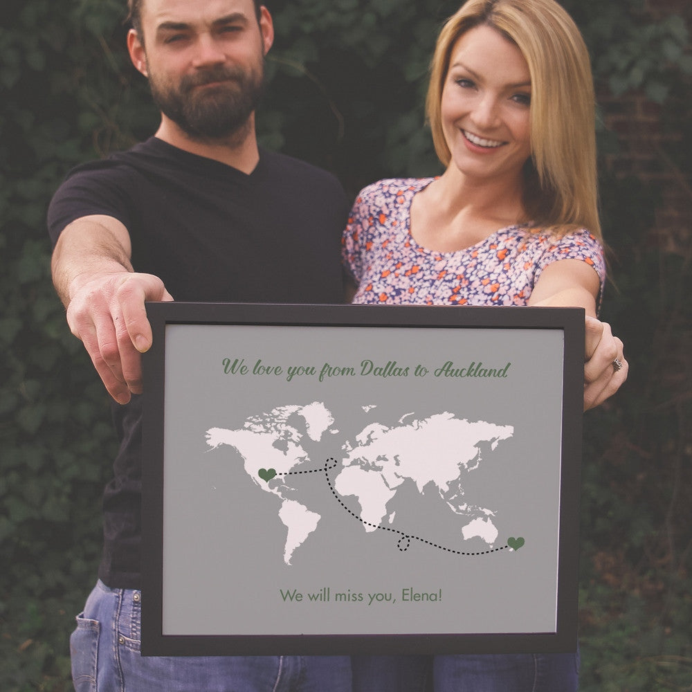 Journey World Map Sign - Choose Locations  - Shop Online