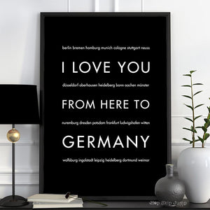 GERMANY Travel Art Print | Gift Idea | HopSkipJumpPaper