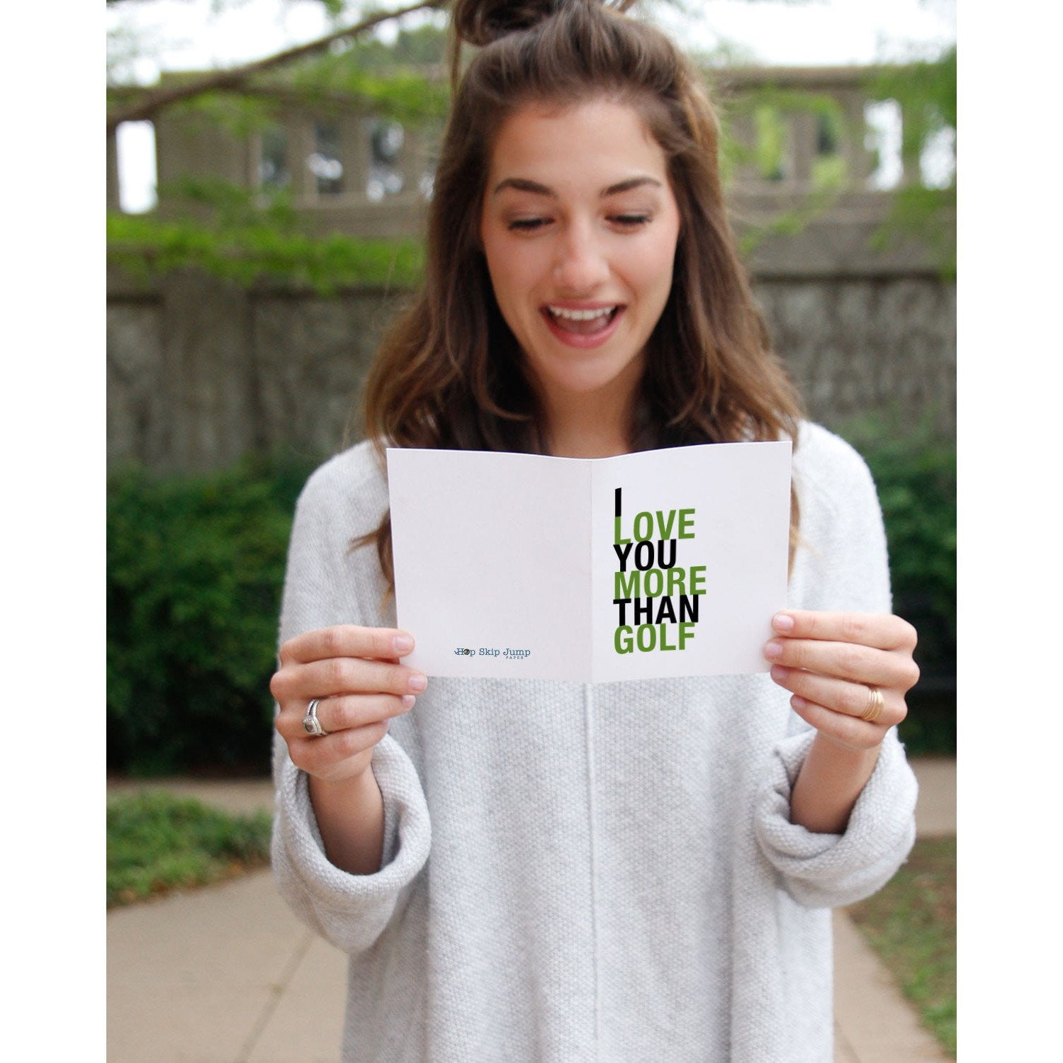 I Love You More Than Golf greeting card  - Shop Online