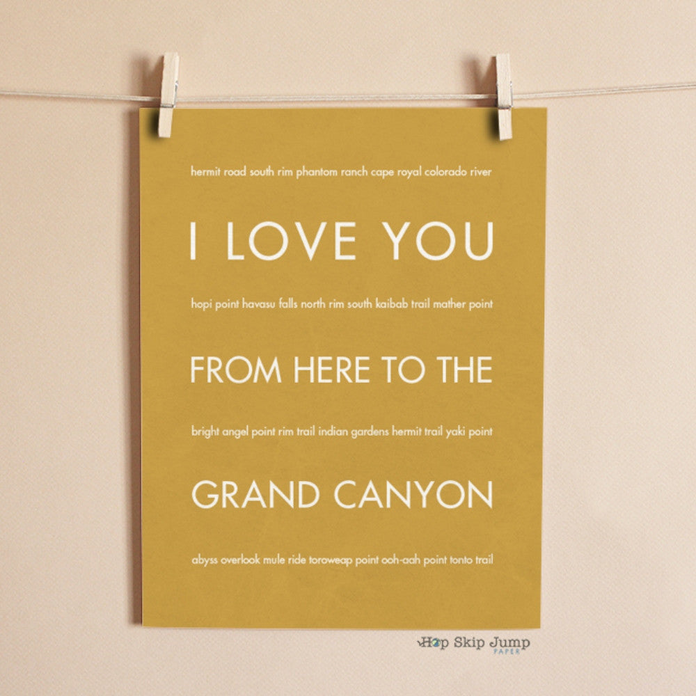 GRAND CANYON Vacation Travel Art Poster | Gift Idea | HopSkipJumpPaper