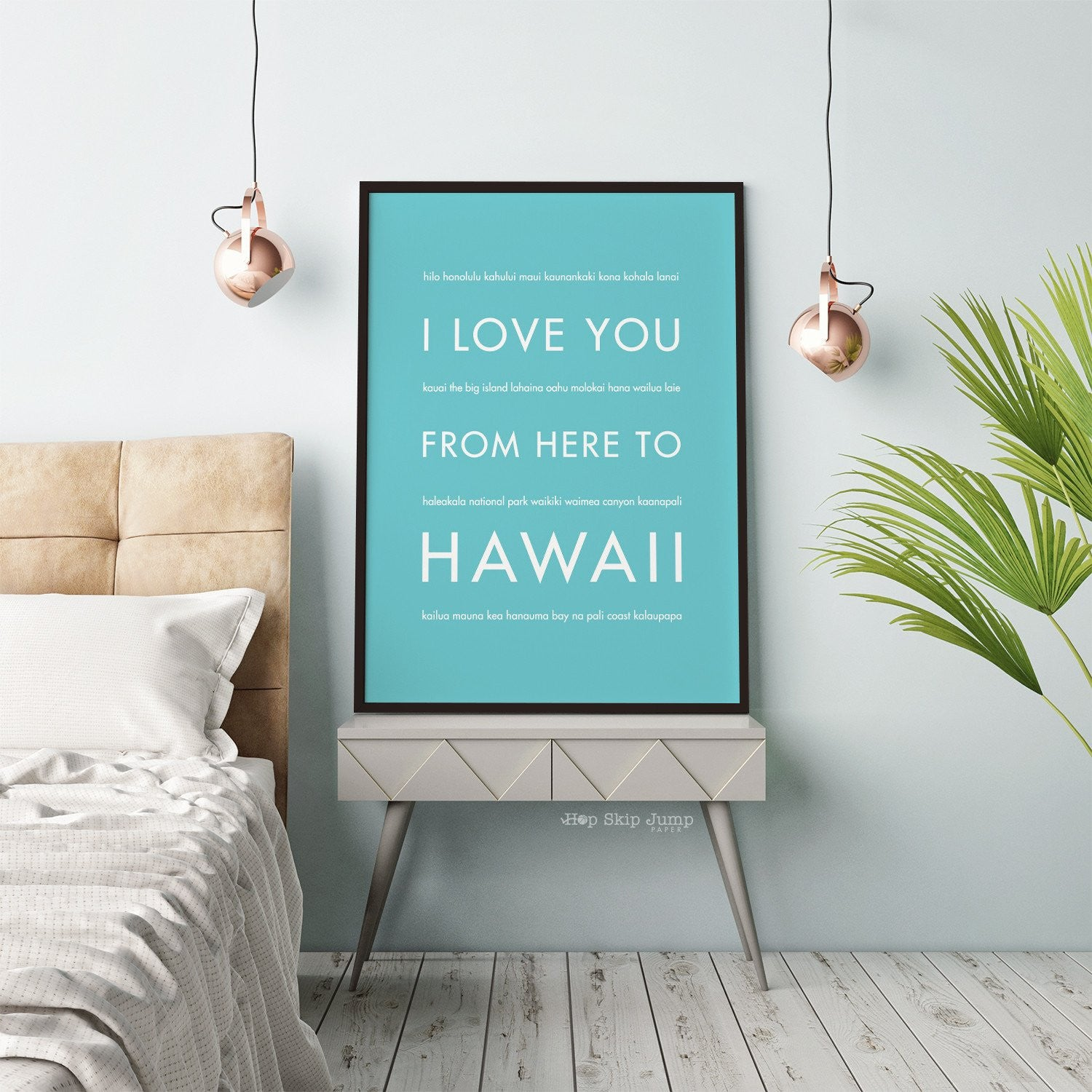 HAWAII Vacation Wall Art | Gift Idea | HopSkipJumpPaper  - Shop Online