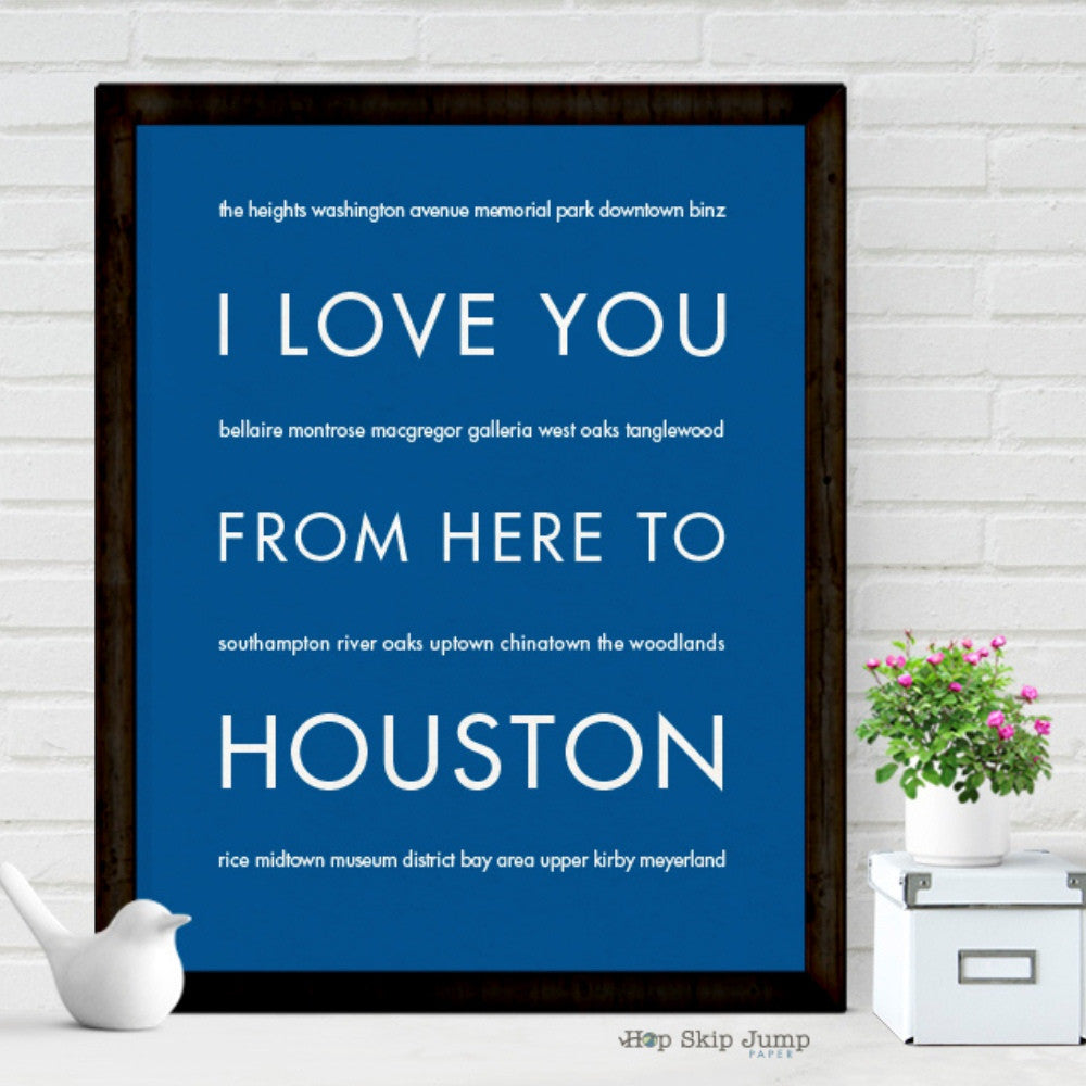 HOUSTON City Wall Art | Gift Idea | HopSkipJumpPaper  - Shop Online