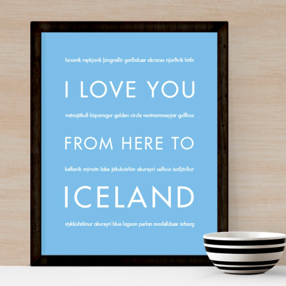 ICELAND Travel Art Print | Gift Idea | HopSkipJumpPaper  - Shop Online