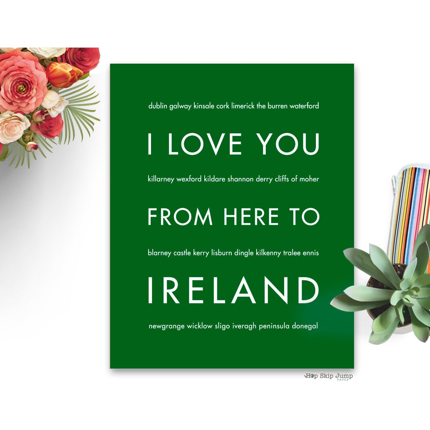IRELAND Travel Art Print | Gift Idea | HopSkipJumpPaper  - Shop Online