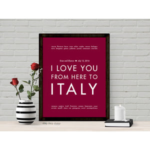 ITALY Custom Wedding Art Print | Gift Idea | HopSkipJumpPaper  - Shop Online