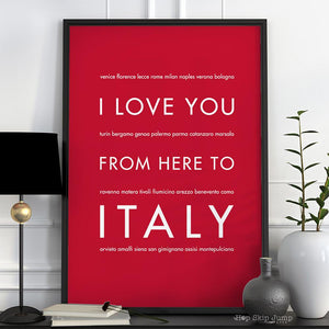 ITALY Travel Art Print | Gift Idea | HopSkipJumpPaper
