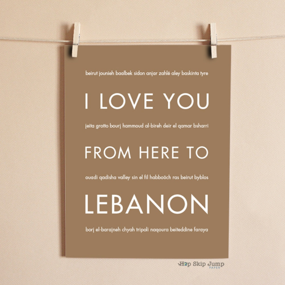 LEBANON art print Travel Art Print | Gift Idea | HopSkipJumpPaper  - Shop Online