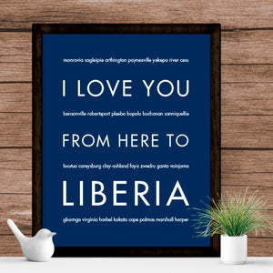 LIBERIA art print Travel Art Print | Gift Idea | HopSkipJumpPaper  - Shop Online