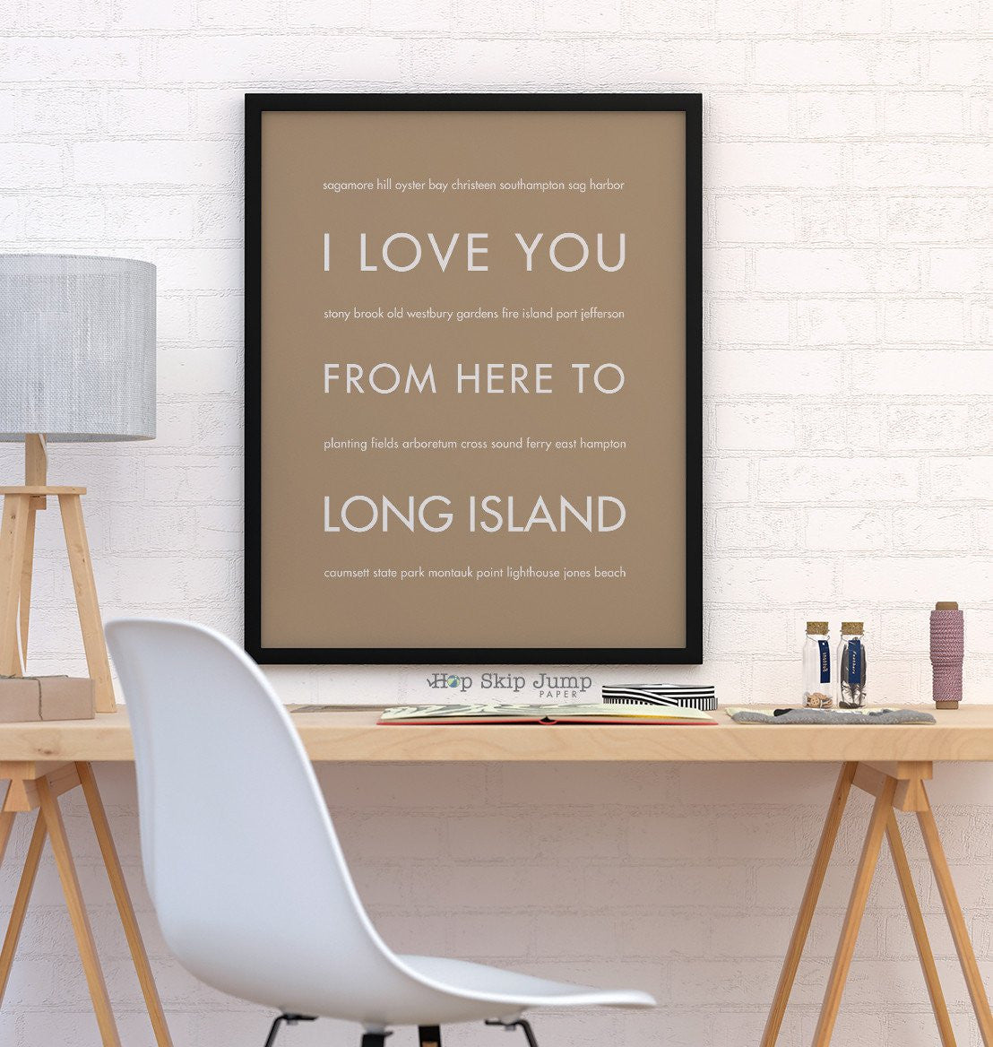 LONG ISLAND NY Wall Poster | Gift Idea | HopSkipJumpPaper