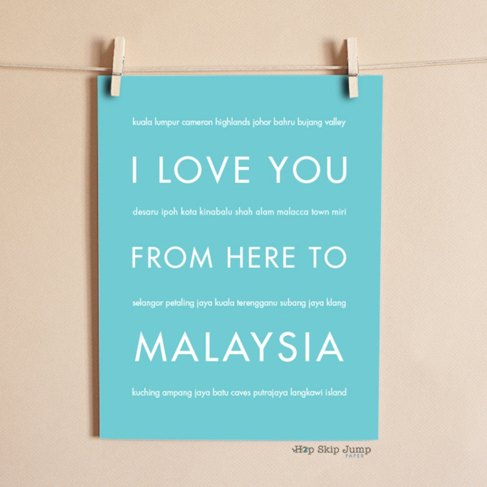 MALAYSIA art print Travel Art Print | Gift Idea | HopSkipJumpPaper  - Shop Online