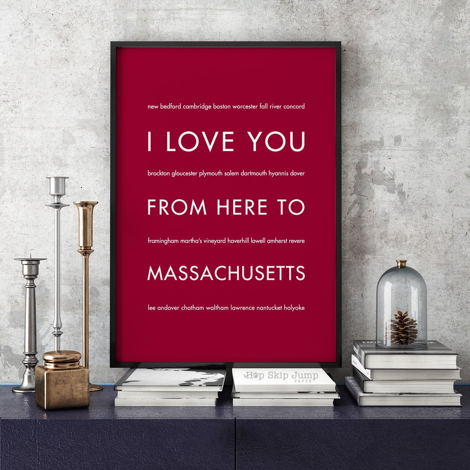 Massachusetts State Home Decor | Gift Idea |...