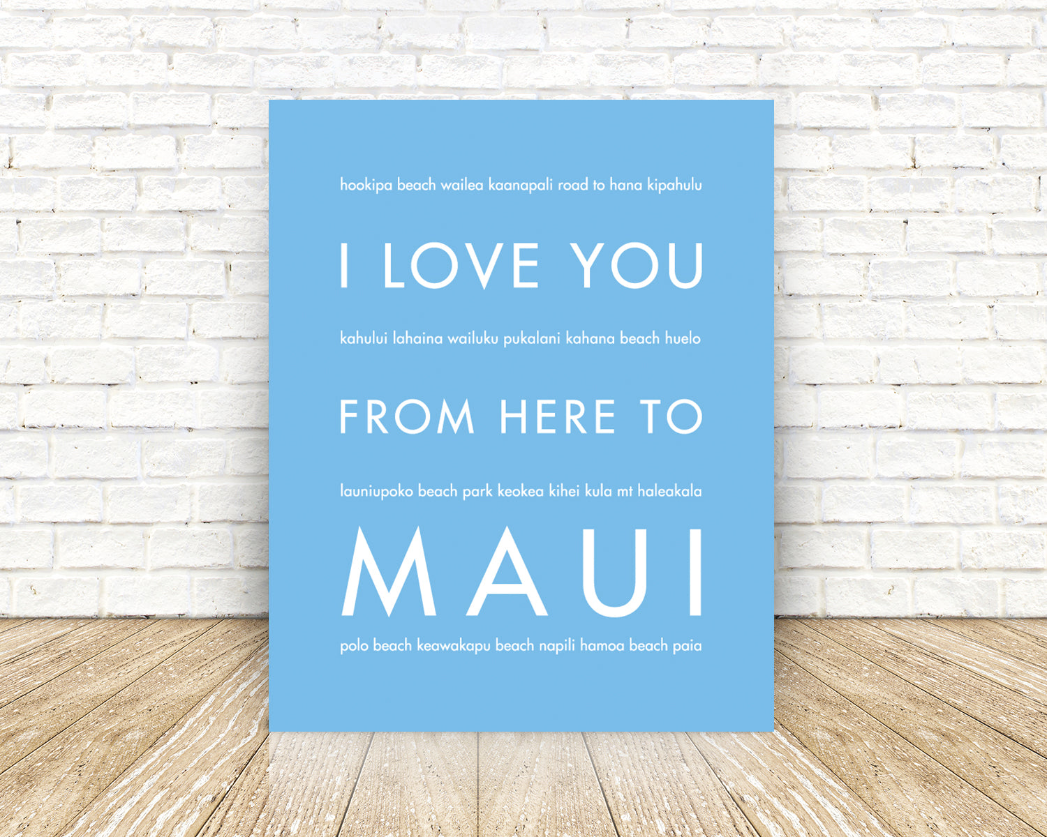 MAUI, Hawaiian Vacation Home Decor | Gift Idea | HopSkipJumpPaper