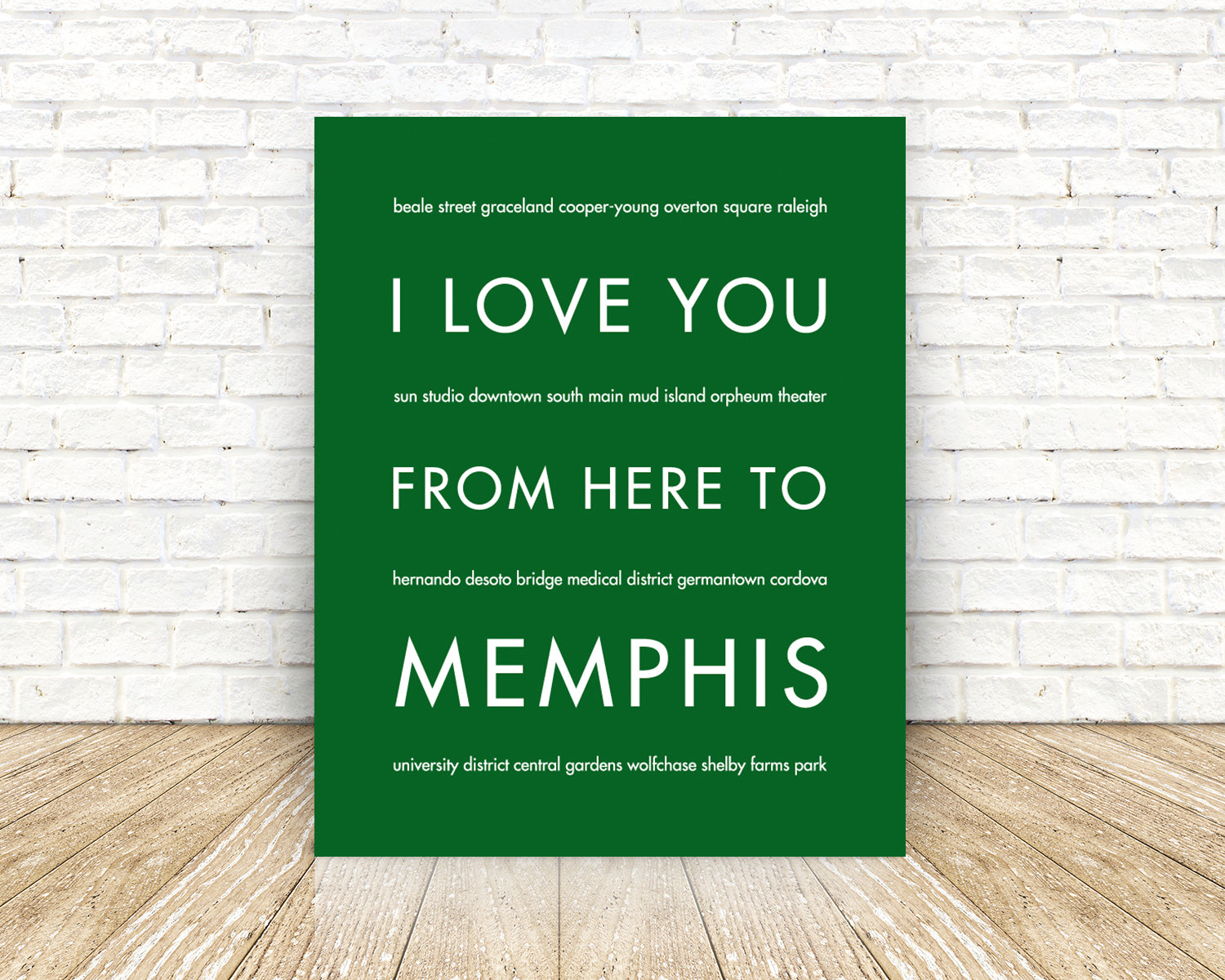 MEMPHIS City Home Decor | Gift Idea | HopSkipJumpPaper