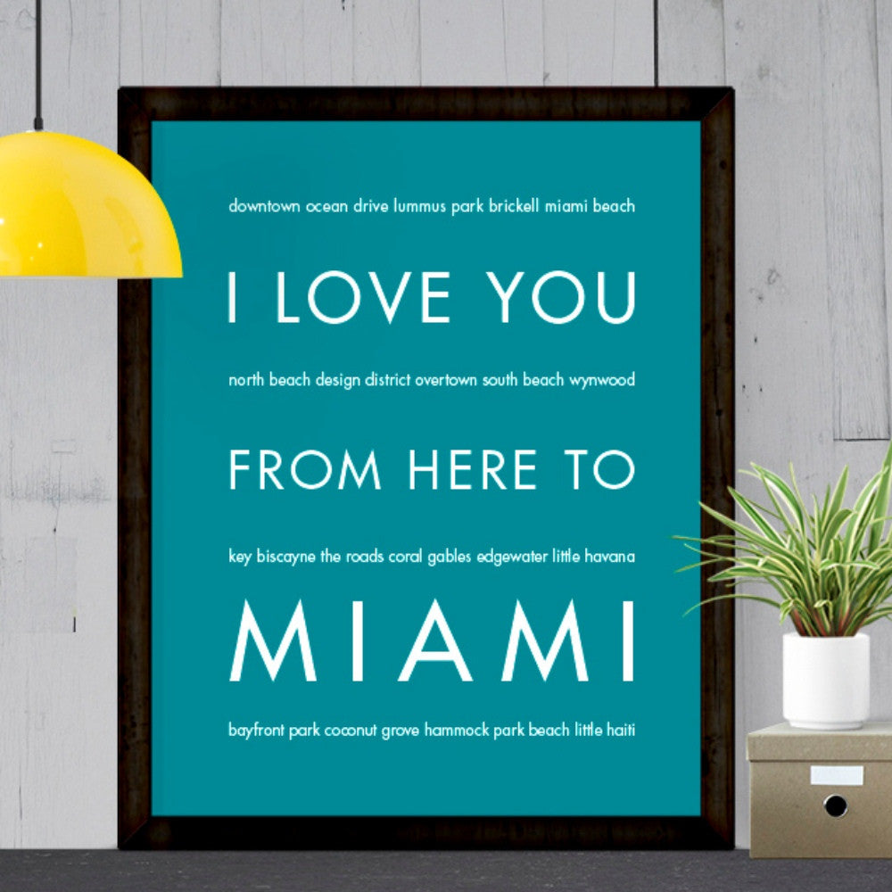 Miami City Home Decor | Gift Idea | Hop Skip...