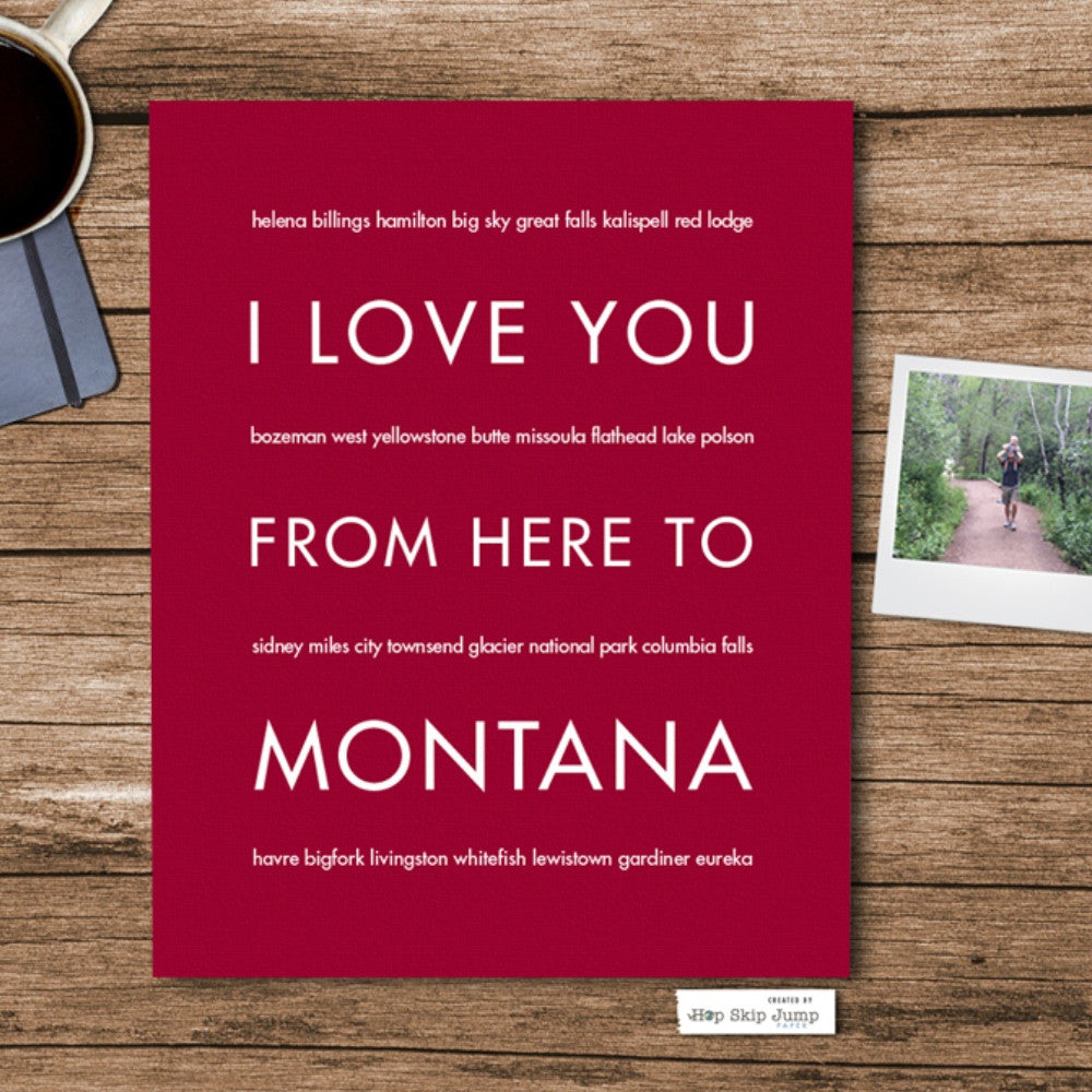 Montana State Home Decor | Gift Idea | Hop Skip...