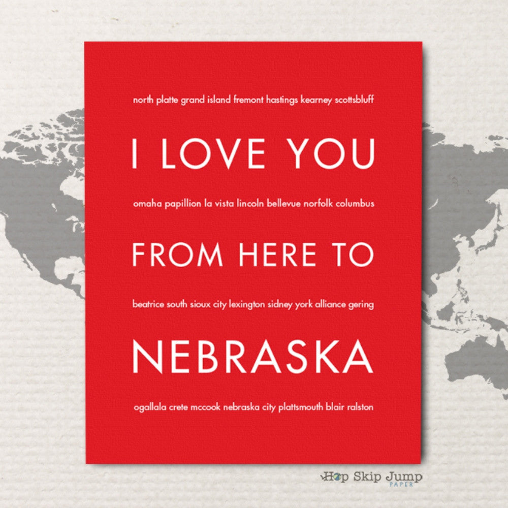 NEBRASKA State Home Decor | Gift Idea | HopSkipJumpPaper  - Shop Online