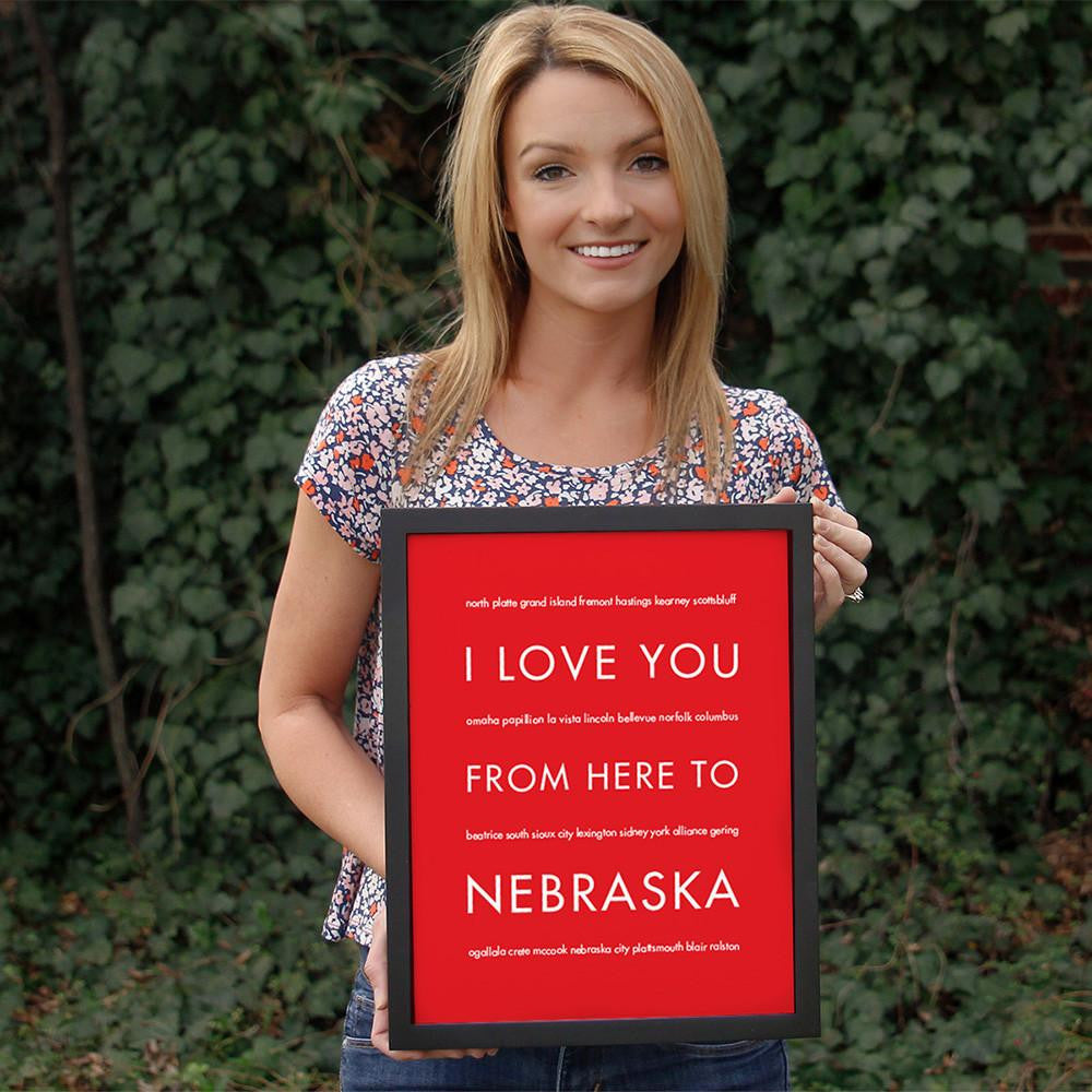 NEBRASKA State Home Decor | Gift Idea | HopSkipJumpPaper
