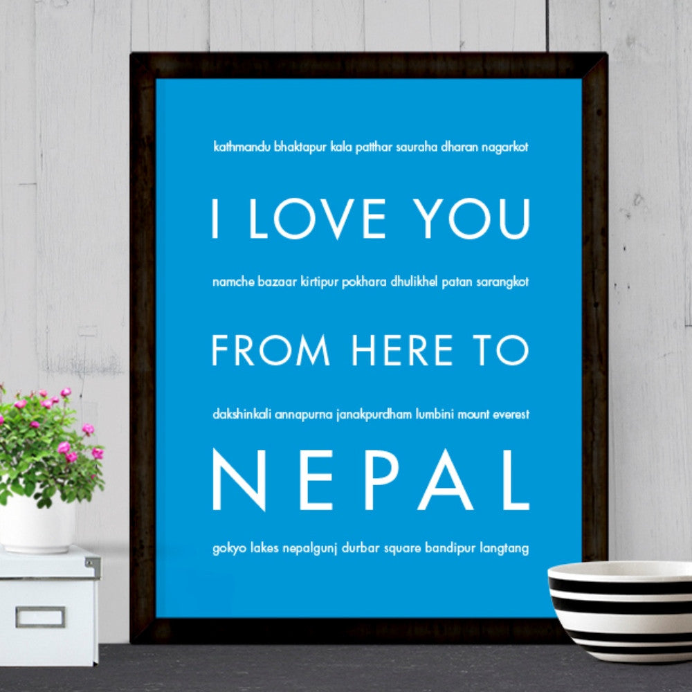 NEPAL Travel Art Print | Gift Idea | HopSkipJumpPaper  - Shop Online
