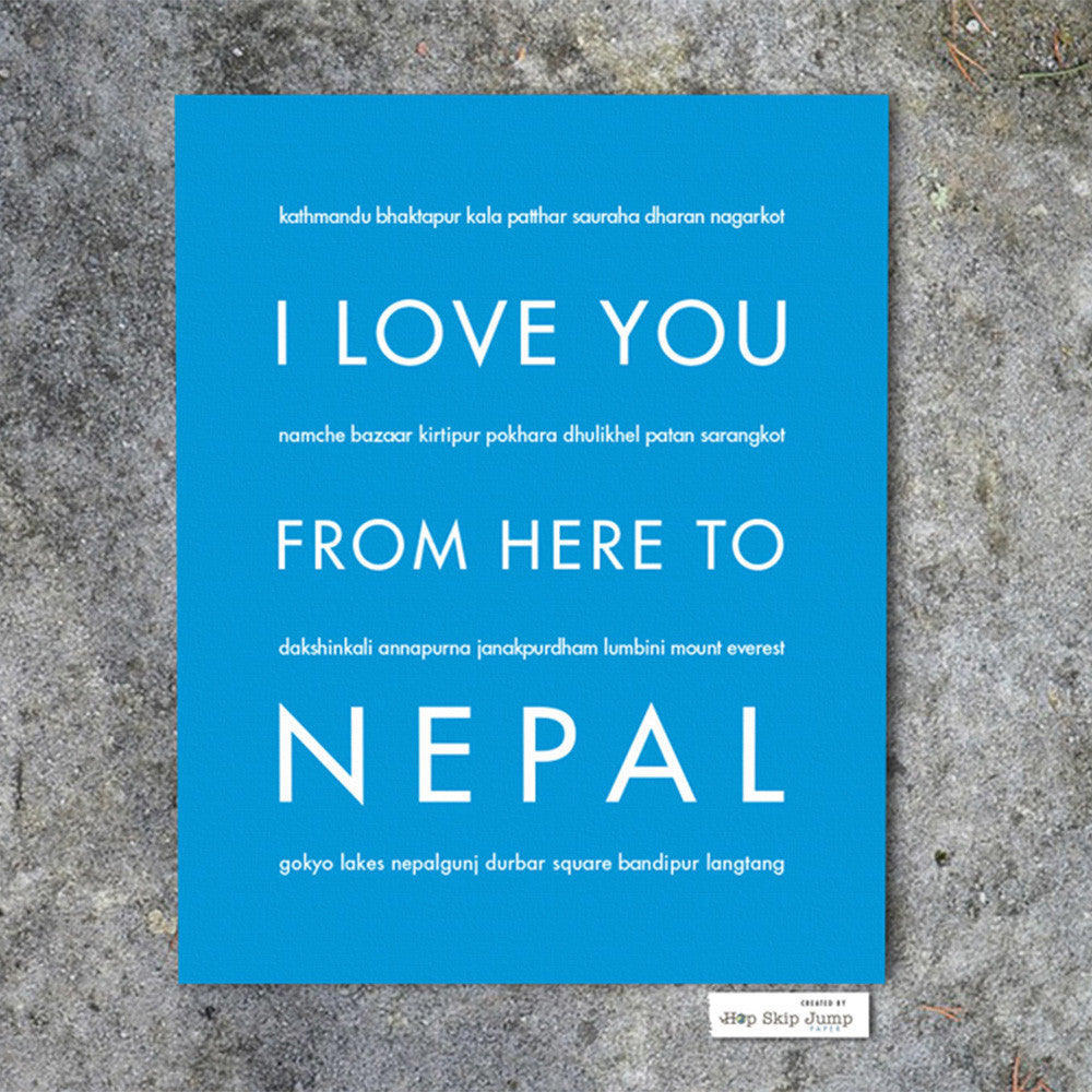 NEPAL Travel Art Print | Gift Idea | HopSkipJumpPaper