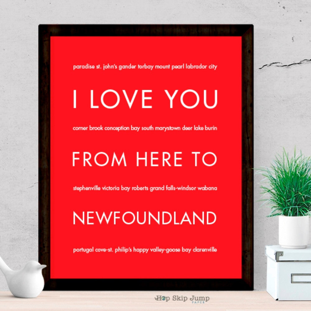 NEWFOUNDLAND art print Travel Art Print | Gift Idea | HopSkipJumpPaper  - Shop Online